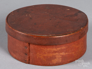 Painted bentwood pantry box, 19th c.