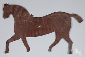 Pennsylvania painted tin horse pattern
