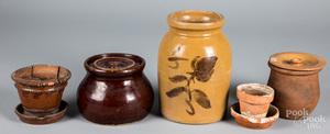 Redware and stoneware