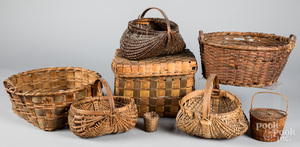 Collection of early baskets.