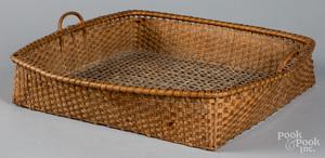 Delicate split oak basket, 19th c.