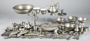 Large group of pewter, 18th-20th c.