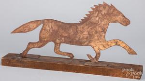 Sheet iron running horse, 20th c.