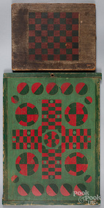 Two painted gameboards, late 19th/early 20th c.