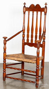 New England William and Mary banisterback armchair