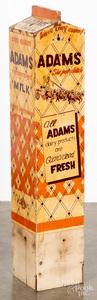 Painted pine Adams dairy advertising sign