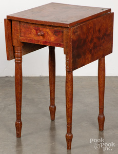 Sheraton painted one-drawer stand, 19th c.