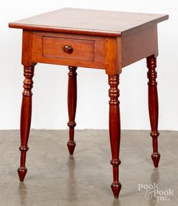 Sheraton cherry one-drawer stand