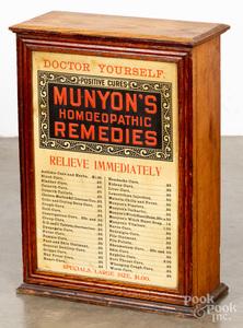 Oak Munyon's Remedies cabinet