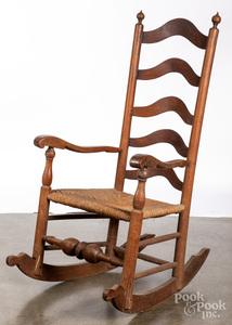 Delaware Valley five-slat ladderback rocking chair
