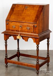 George Beshore tiger maple desk on frame