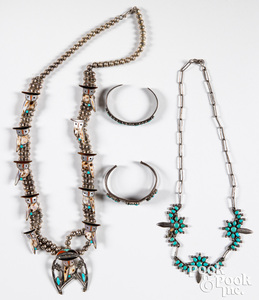 Nora Leekaty Indian silver and turquoise necklace