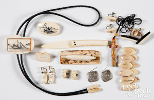 Inuit and Pacific Northwest Indian jewelry, etc.