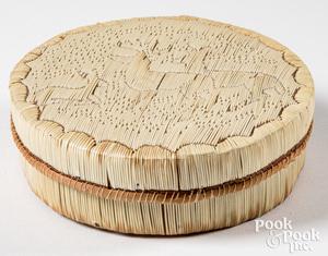 Native American woodlands Indian birch box