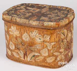 Native American woodlands Indian birch bark box