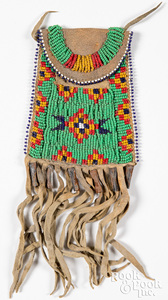 Sioux Indian beaded Strike-A-Lite bag