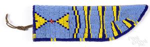 Sioux Indian beaded knife sheath