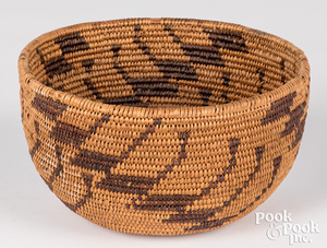 California Indian coiled basket