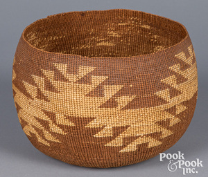 Northern California Indian twined basket