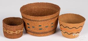 Three Northwest Coast Indian baskets