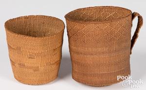 Two Northwest Coast region Indian baskets