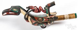 Ken Kidder Northwest Coast Indian raven rattle