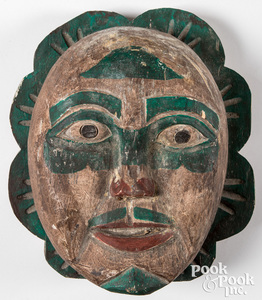 Northwest Coast Indian carved & painted mask
