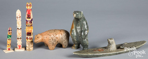 Native American Indian Inuit stone carvings
