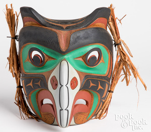 Tom Hunt, Kwakuital Indian carved and painted mask