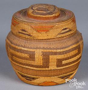 Northwest Coast Tlingit Indian basket
