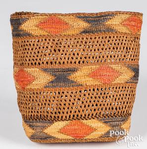 Northwest Coast Tlingit openwork basket