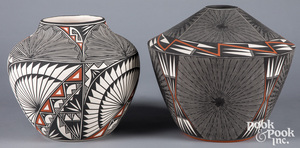 Two pieces of Acoma Indian Pueblo pottery