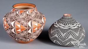 Two pieces of Acoma Pueblo pottery