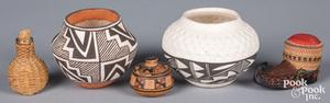 Two Acoma Pueblo Indian pottery ollas