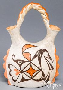 Acoma Indian pottery wedding vase