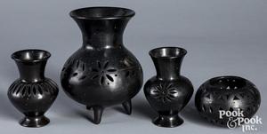 Group of Oaxacan blackware pottery
