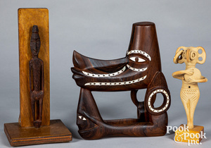 Papua New Guinea small carved totem