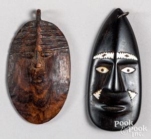 Papua New Guinea miniature carved mask pendant