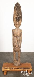 Timor carved wood guardian figure
