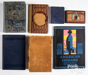 Group of books on Native American Indians
