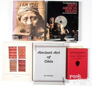 Group of Native American reference books