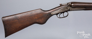 W. H. Hamilton double barrel side by side shotgun