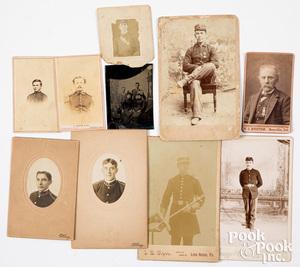 Group of Civil War and post Civil war photos