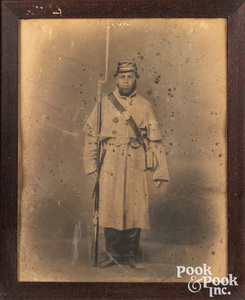 Large enhanced photograph Civil War portrait