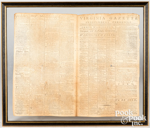 October 6th, 1787 Virginia Gazette newspaper