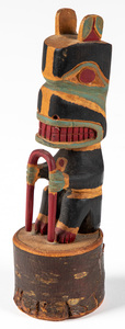 Northwest Coast Native American Indian bear totem