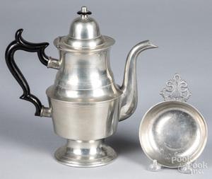 George Richardson pewter coffee pot