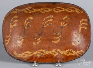 Pennsylvania redware loaf dish, 19th c.