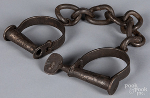 Wrought iron shackles, 19th c.