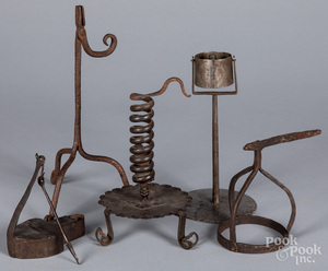 Iron lighting, 18th/19th c.